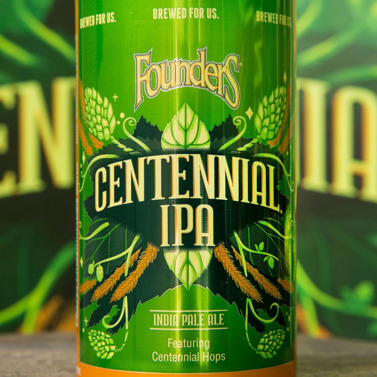 close up of centennial ipa can