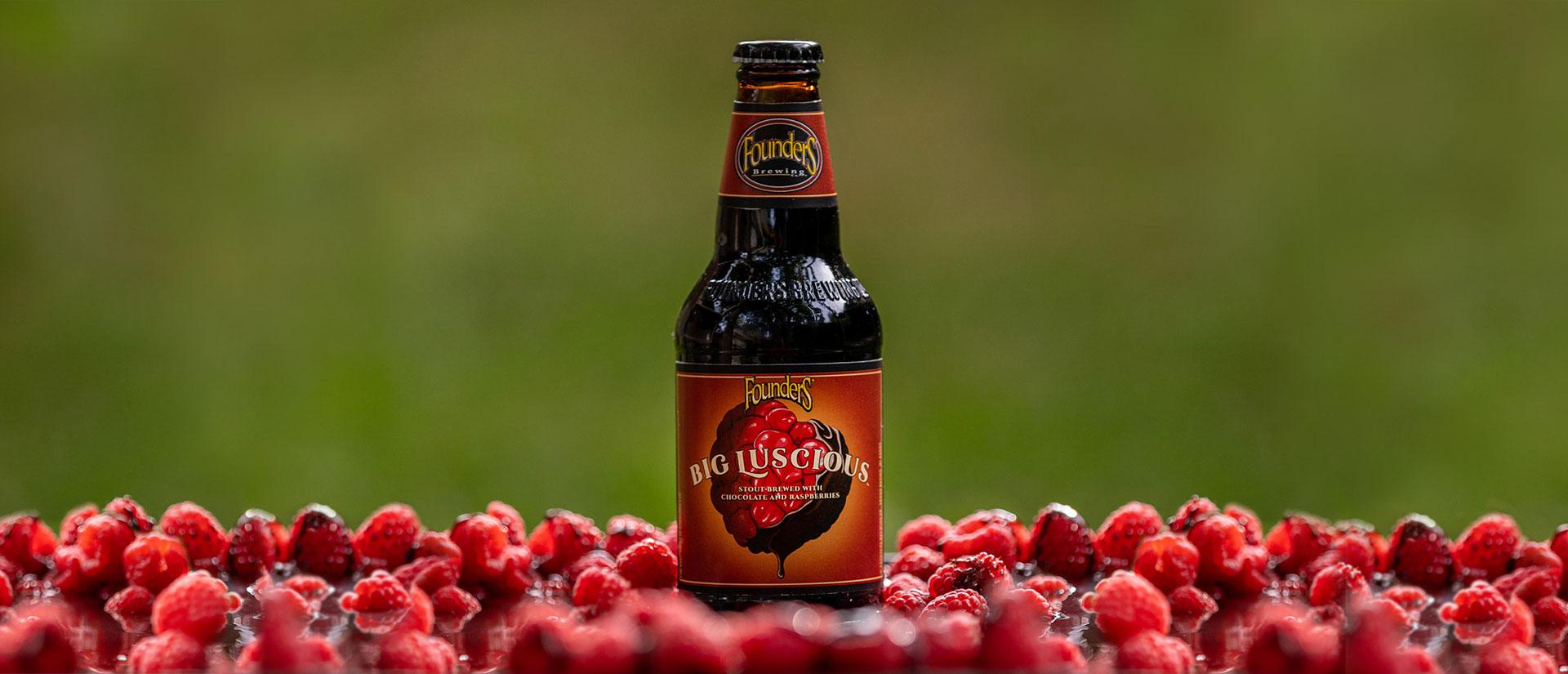 big luscious bottle in raspberries