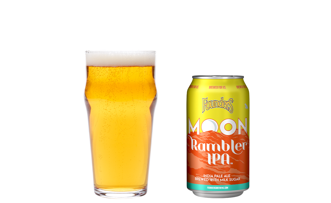 moon rambler ipa can and draft pour