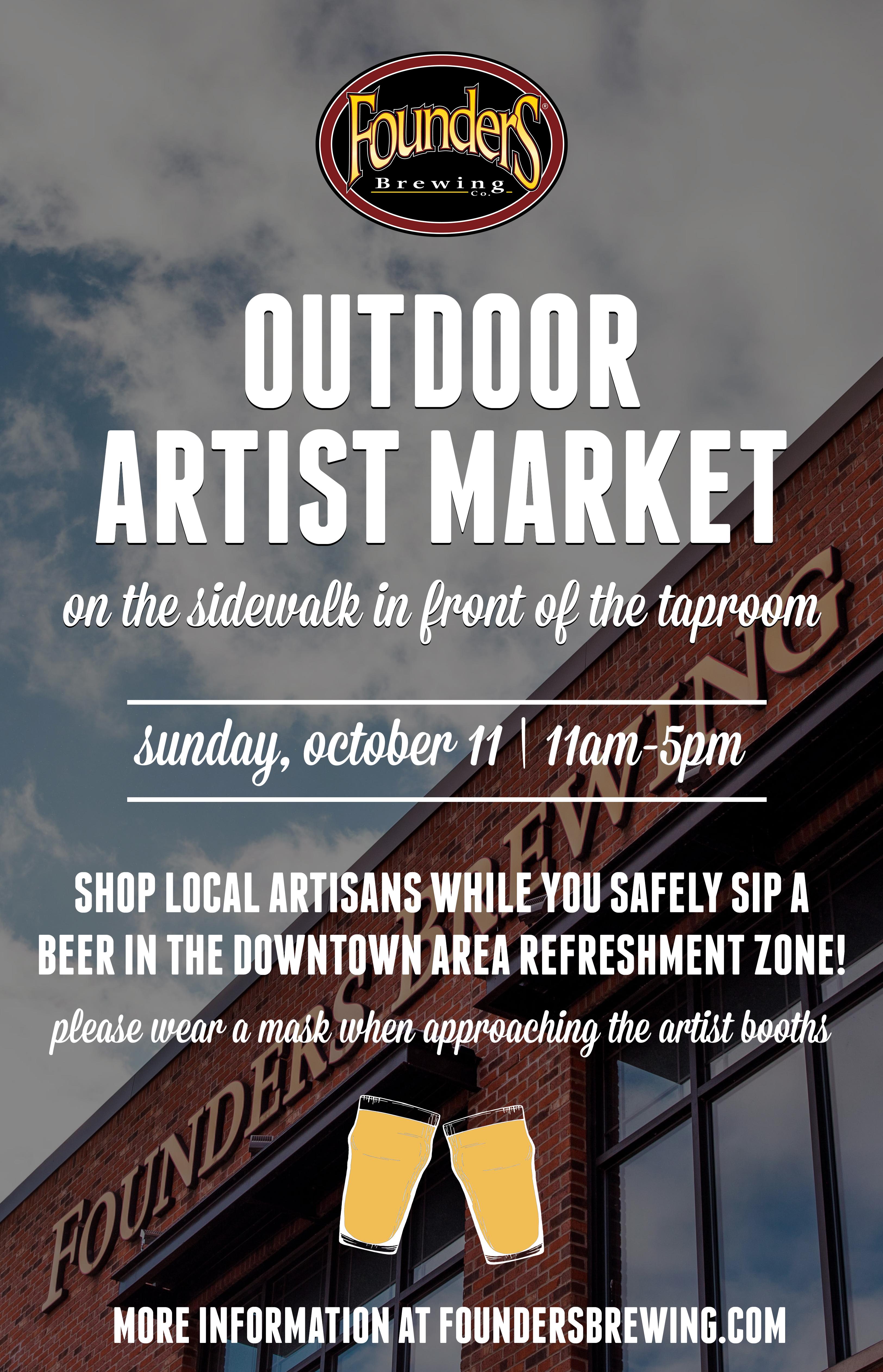 Outdoor Artist Market poster