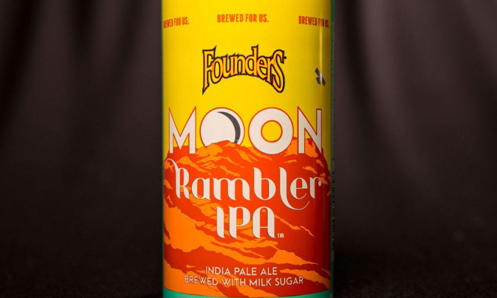 moon rambler close up of can