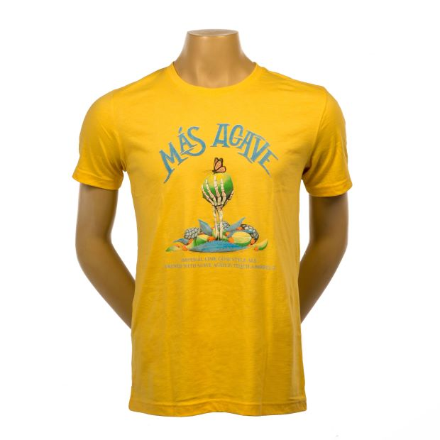 Mas Agave Yellow Tshirt with skeleton arm