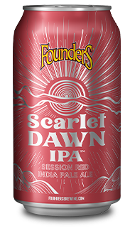 Scarlet Dawn IPA Can Red with Sunrise
