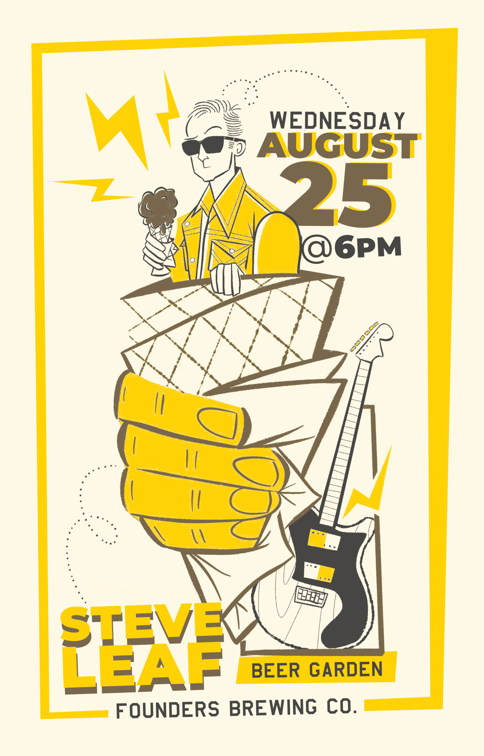 Steve Leaf at Founders Beer Garden on August 25 at 6pm