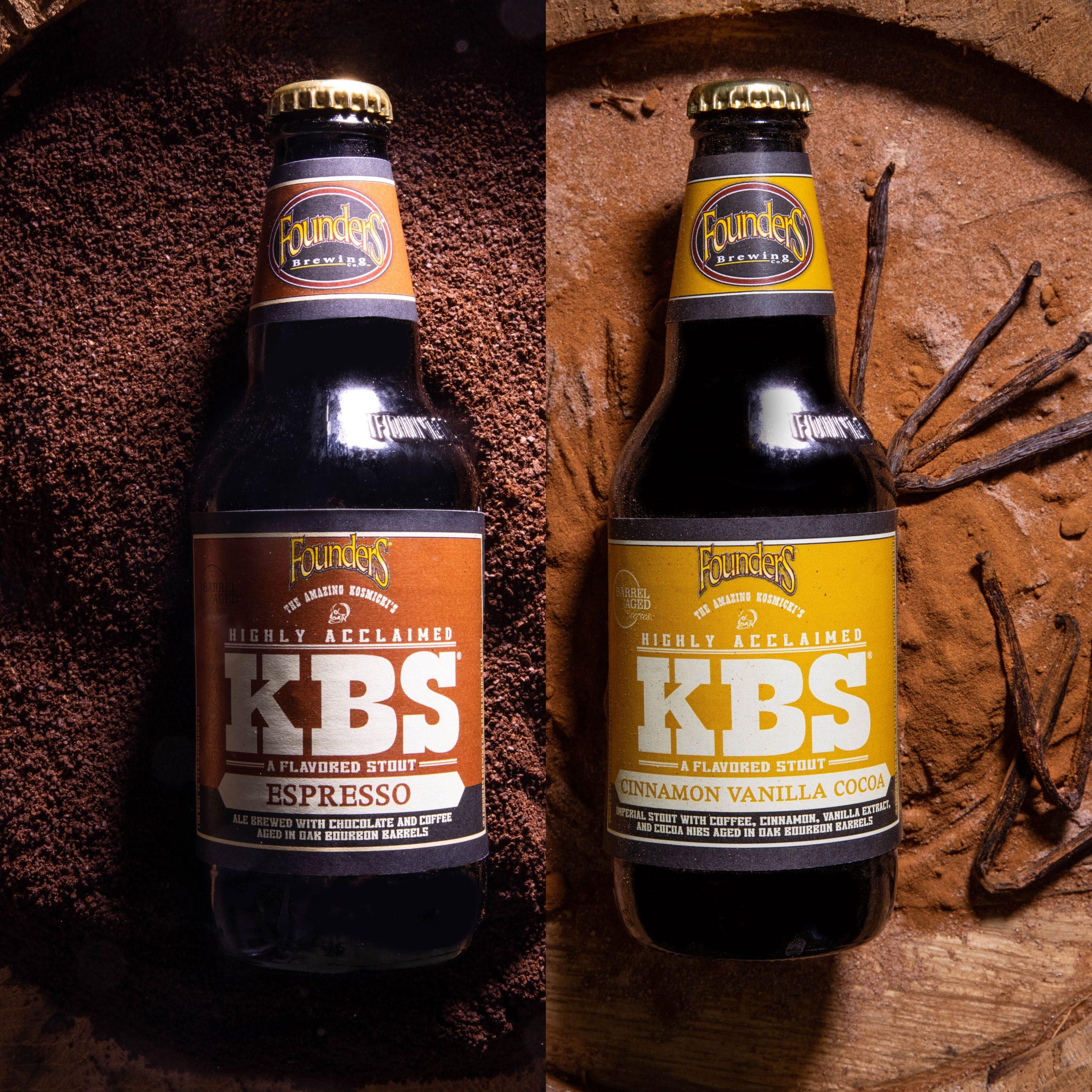 KBS Espresso and KBS Cinnamon Vanilla Cocoa bottles square