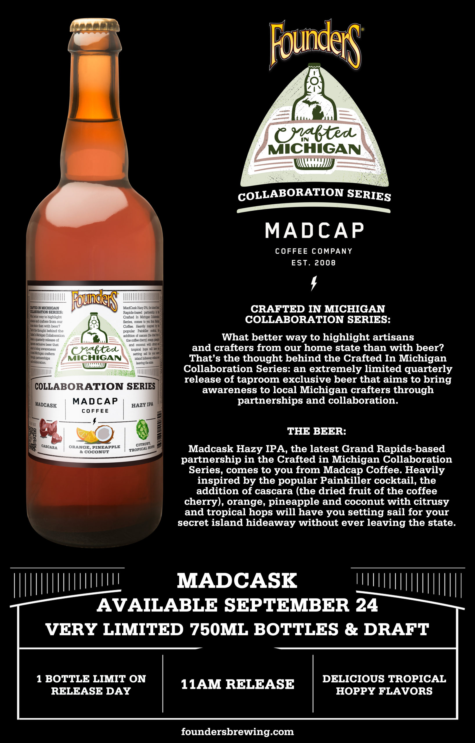 Madcask Detroit release on September 24 at 11am