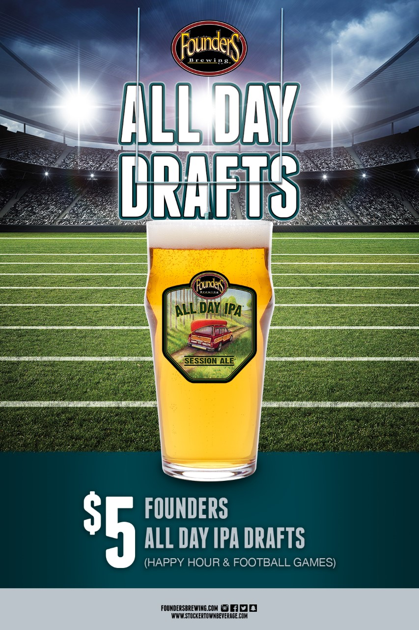 thumbnail Founders Football Special All Day Drafts postcard flat